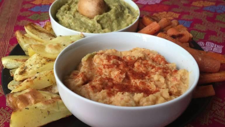 RECETA | Hummus y guacamole